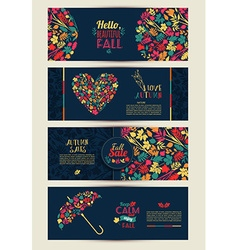Leaves compositionBanners of autumn season vector image