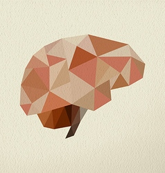 Abstract brain low poly concept vector