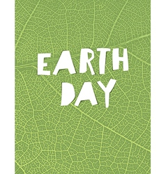 Nature background with earth day headline green vector