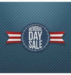 Memorial day sale banner with text and shadow vector