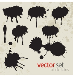 Ink stains set 5 vector
