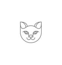 Abstract cat icon vector
