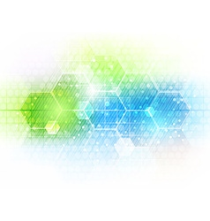 Abstract future business technology background vector