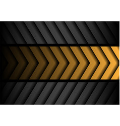 abstract yellow gray arrow pattern black vector image