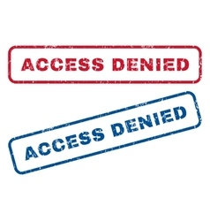 Access Denied Rubber Stamps vector image vector image