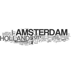 Amsterdam coffee shop text word cloud concept vector
