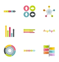 Analytics icons set flat style vector