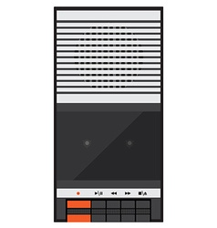 Audio tape recorder vector image vector image