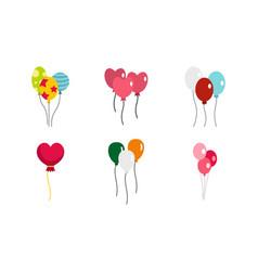 Ballons icon set flat style vector