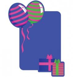birthday board vector image