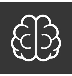 Brain Logo Icon on Black Background vector image