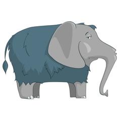 Cartoon character elephant vector