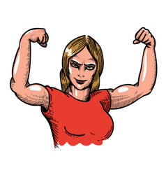 Cartoon image of gym woman vector