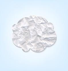 Cloud paper vector