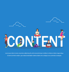 content of young various people using vector image vector image