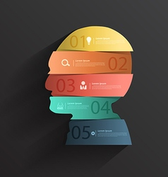 Creative head with number banners vector image