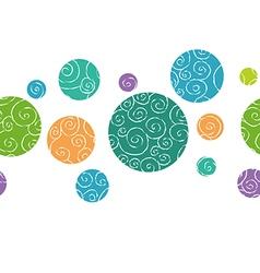 Doodle balls border vector image
