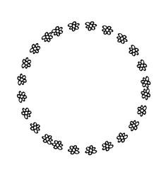 Elegant flower decorative frame vector