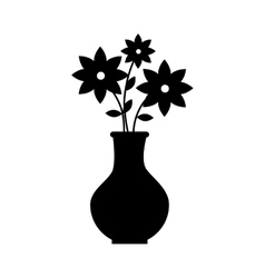 flower pot floral decoration icon graphic vector image