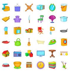 Good home icons set cartoon style vector