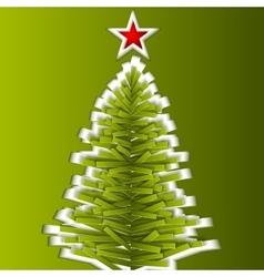Green paper christmas tree vector