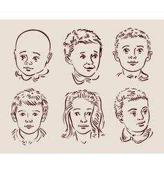 Hand-drawn children vector