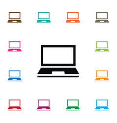 isolated notebook icon desktop element can vector image vector image