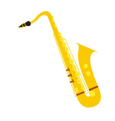 isolated saxophone instrument vector image