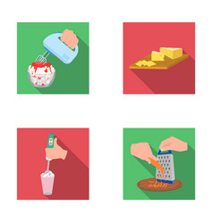 Jam diet accessories and other web icon in flat vector