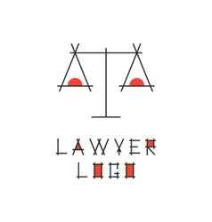 lawyer logotype with abstract scales vector image vector image