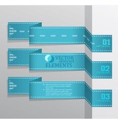Modern blue banner item vector