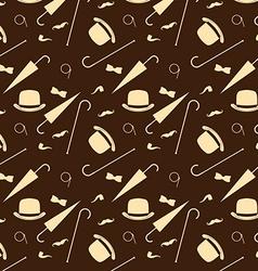Retro gentleman elements - bowler moustache vector image vector image