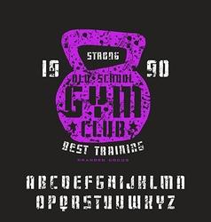 Stencil plate sanserif font vector image
