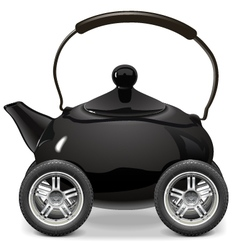 Teapot on wheels vector
