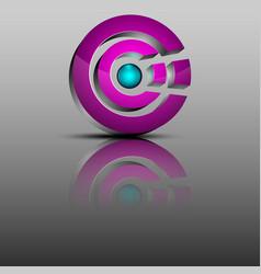 The 3d logoconcept design vector