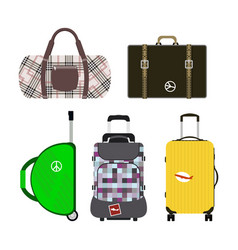 travel tourism fashion baggage or luggage vacation vector image vector image