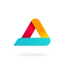 Triangle logo with rounded corners isolated vector image