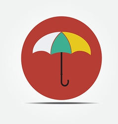 Umbrella Flat style icon vector image vector image