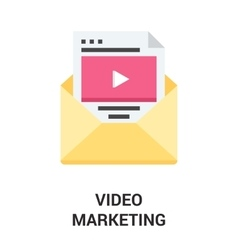 video marketing icon concept vector image vector image