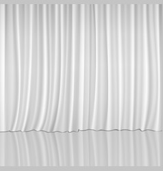 White Curtains Background vector image