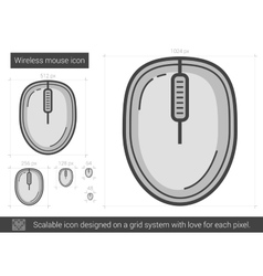 Wireless mouse line icon vector image