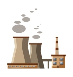 Industrial plant with pipes icon cartoon style vector