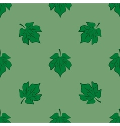Leaves of maple on light-green background vector
