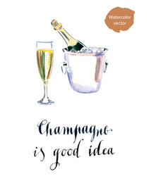 Champagne is good idea vector