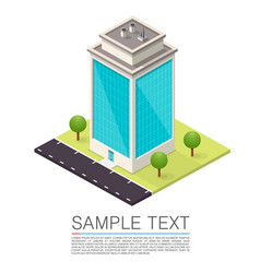 isometric road house art sign vector image