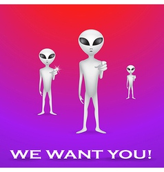 We want you poster vector