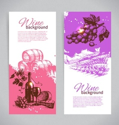 Banners of wine vintage background vector image