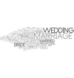 Marriage word cloud concept vector