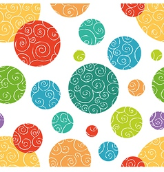 Seamless pattern with colorful doodle circles vector