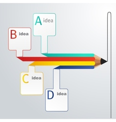 Business education pencil infographics option vector